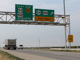 New highway signs