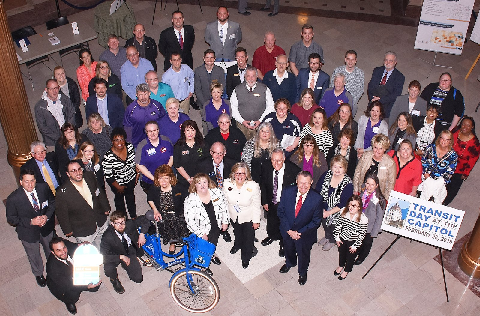 Attendees and speakers at Transit Day at the Capitol 2018.