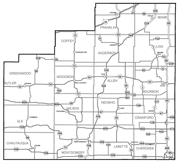 KDOT Area Served District 4