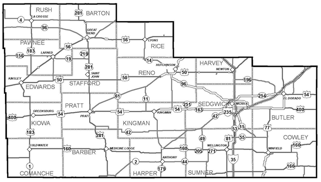 KDOT Area Served District 5